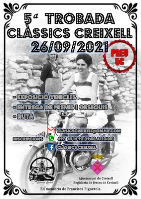 5ª TROBADA DE VEHICLES CLÀSSICS DE CREIXELL 2021