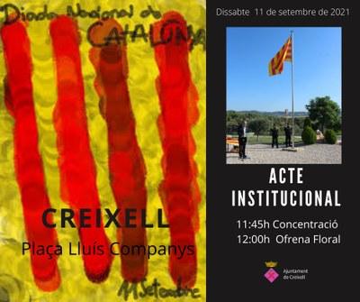 ACTE INSTITUCIONAL DE LA DIADA NACIONAL DE CATALUNYA - 11 DE SETEMBRE DE 2021 A CREIXELL