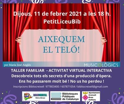 Bibliocreixell, Activitat virtual familiar