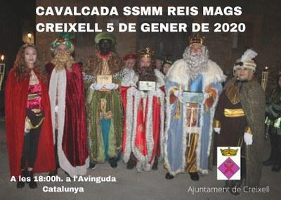 CAVALCADA DE SSMM ELS REIS MAGS DE L'ORIENT A CREIXELL - 2020
