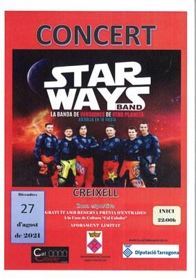 CONCERT AMB STAR WAYS BAND, la banda de versions d'un altre planeta
