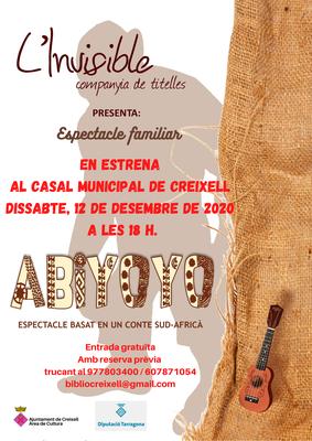 """ESPECTACLE FAMILIAR DE TITELLES """"ABIYOYO"""", un conte sud-africà."""