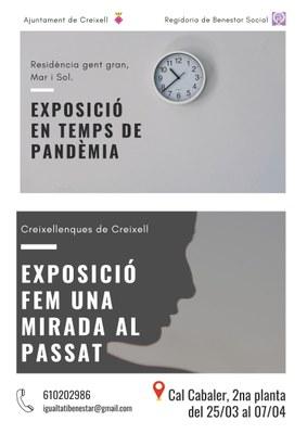 EXPOSICIÓ EN TEMPS DE PANDÈMIA - FEM UNA MIRADA AL PASSAT - RESIDÈNCIA GENT GRAN, MAR I SOL.
