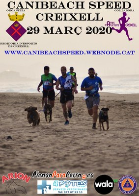 """""""II CANI BEACH SPEED"""" de Creixell - Cursa amb gossos per la platja"""