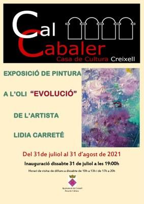 """INAUGURACIÓ DE L'EXPOSICIÓ DE PINTURA A L'OLI """"EVOLUCIÓ"""" DE L'ARTISTA LIDIA CARRETÉ"""