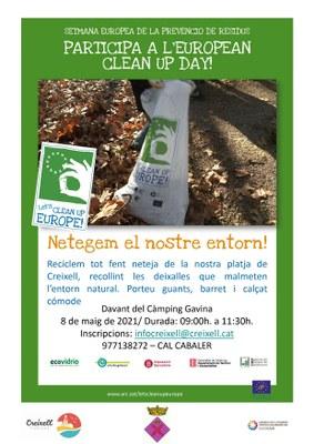JORNADA DE RECOLLIDA DE RESIDUS A LA PLATJA DEL GORG DE CREIXELL - EUROPEAN CLEAN UP DAY!