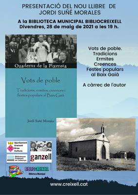 PRESENTACIÓ A LA BIBLIOCREIXELL DEL LLIBRE DE JORDI SUÑÉ, VOTS DE POBLE.