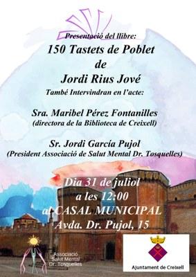 """PRESENTACIÓ DEL LLIBRE """"150 TASTETS DE POBLET"""" DE L'HISTORIADOR JORDI RIUS I JOVÉ"""