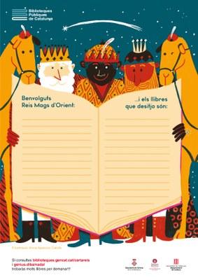 VINE A BUSCAR LA CARTA ALS REIS MAGS D'ORIENT A LA BIBLIOCREIXELL Ja tenim a la vostra disposició la carta i el sobre per tal que pogueu enviar els vostres desitjos als Reis Mags d'Orient. No us oblideu de posar un LLIBRE  entre els vostres desitjos. En aquest enllaç hi trobareu algunes recomanacions