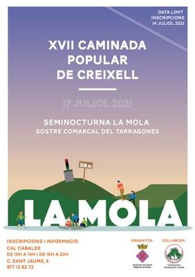 XVII CAMINADA POPULAR DE CREIXELL A LA MOLA (Sostre comarcal del Tarragonès)