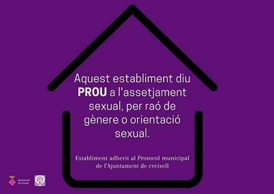 Aprovat el Protocol contra l'assetjament sexual a Creixell - Protocol per la prevenció i abordatge de l'assetjament sexual i per raó de gènere o orientació sexual.