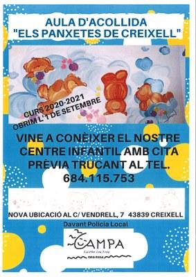 """AULA INFANTIL D'ACOLLIDA """"ELS PANXETES DE CREIXELL"""""""