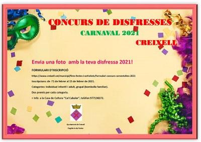 CONCURS FOTOGRÀFIC DE DISFRESSES ONLINE DEL CARNAVAL 2021 DE CREIXELL
