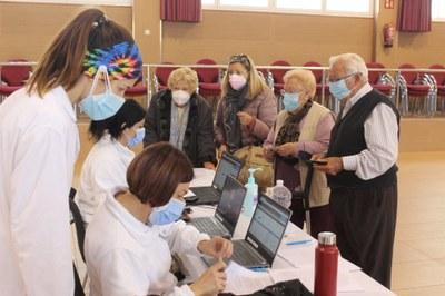 Creixell inicia aquest dimecres 31 de març de 2021 la vacunació massiva contra la Covid-19 amb els majors de 80 anys