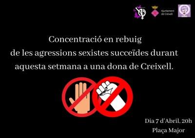Davant el cas de violència de gènere a Creixell el passat cap de setmana, el col·lectiu Papallones Liles fa una concentració a les 20h, avui dimecres dia 7