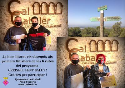 LLIURAMENT D'OBSEQUIS ALS PRIMERS FINISHERS DEL PROGRAMA CREIXELL FENT SALUT