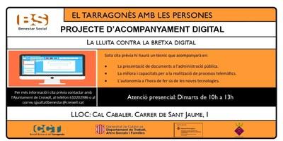 PROJECTE D'ACOMPANYAMENT DIGITAL -  LA LLUITA CONTRA LA BRETXA DIGITAL